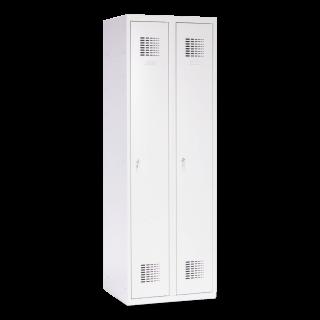 #02 STANDARD 2│ 2-dverová kovová šatníková skriňa, 1800/600/500 mm