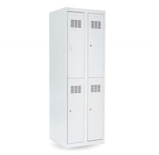 #03 MINI 4│ 4-dverová kovová šatníková skriňa delená, 1800/600/500 mm