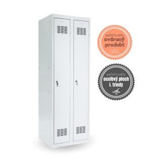 #03 STANDARD │ 2-dverová kovová šatníková skriňa