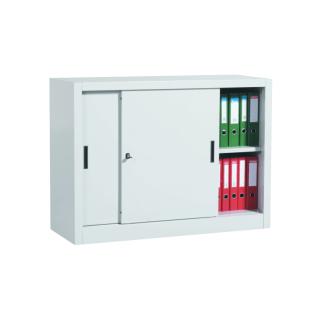 #01 SLIDER MINI │ Nízka kovová skriňa s posuvnými dverami, 900/1200/450 mm