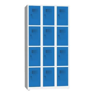 #02 BOXES 12 BLUE │ Skriňa na úschovu cenností s 12 priehradkami, 1800/900/500 mm