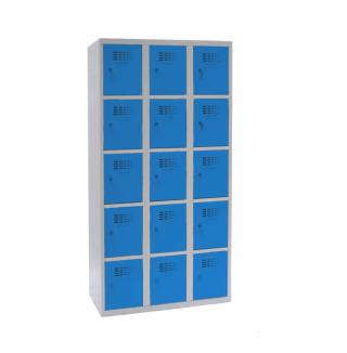 #02 BOXES 15 BLUE │ Skriňa na úschovu cenností s 15 priehradkami, 1800/900/500 mm