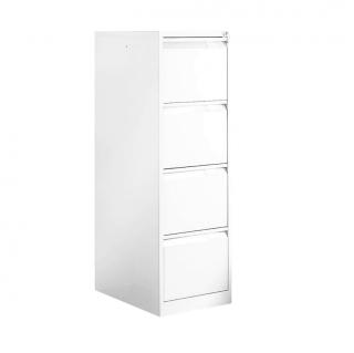 #06 FILE 4 WHITE │ 4-zásuvková kartotéková skriňa biela, 1320/405/623 mm