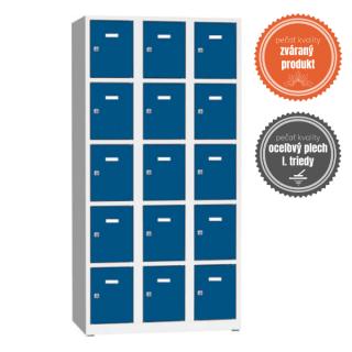 #02 BOXES 15 BLUE │ Skriňa na úschovu cenností s 15 priehradkami