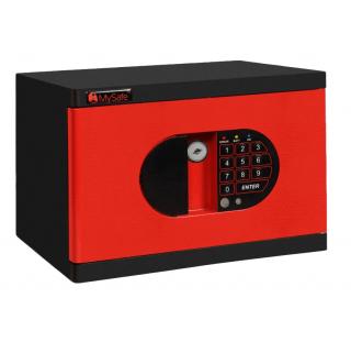 #17 MINISAFE BLACK & RED - Bezpečnostná schránka čierno - červená