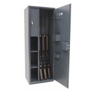 #17 HUNTER STRONG MAXI - Trezor na 4 zbrane, uzamykanie na kľúč, 1312/470/350 mm