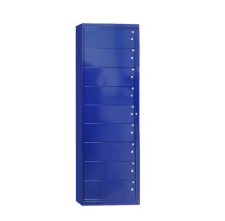 #15 LAUNDRY 9 BLUE - Skriňa na výdaj pracovného oblečenia s 9 priehradkami