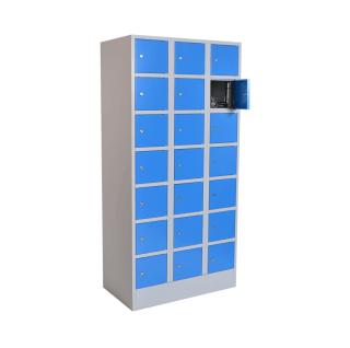 #05 BOX 21 BLUE - 21-priehradková skriňa na úschovu cenností, 1850/900/500 mm