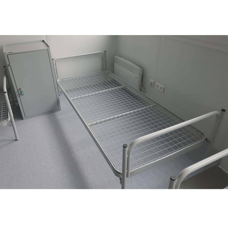 #03 FOLDING BED GREY - Skladacia kovová posteľ
