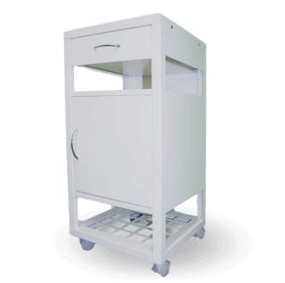 #03 BEDSIDE WHITE - Kovový nočný stolík, 860 mm x 400 mm x 400 mm