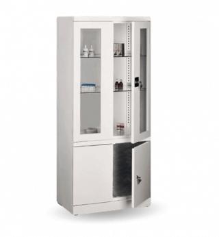 #03 MEDICINE PLUS GLASS - Nemocničná skrinka na lieky, 1800 mm x 800 mm x 435 mm