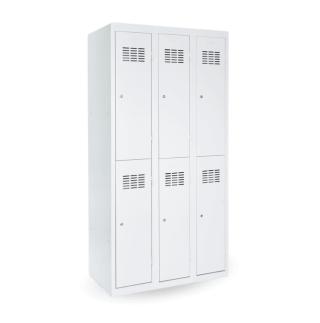 #03 MINI 6│ 6-dverová kovová šatníková skriňa delená, 1800/900/500 mm