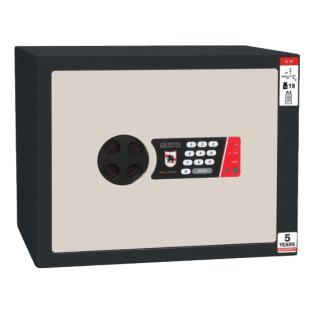 #17 MINISAFE S30 ELECTRO – Bezpečnostná schránka čierno – biela, 380 x 300 x 320 mm