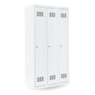 #03 STANDARD 3 - 3-dverová kovová šatníková skriňa, 1800/900/500 mm