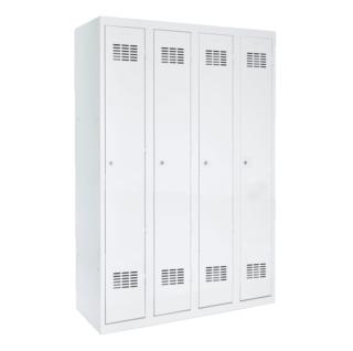 #03 STANDARD 4 - 4-dverová kovová šatníková skriňa, 1800/1200/500 mm