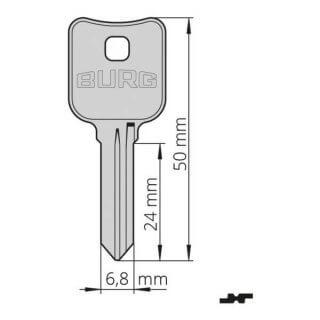 #11 Profil X (balenie: 20 ks) - Nevyrezaný polotovar kľúča