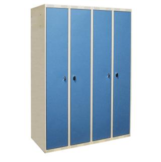 #04 STANDARD CROSS 4 - 4-dverová šatníková skriňa s otváraním do seba, 1740 x 1200 x 550 mm