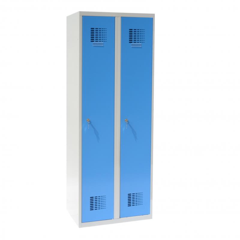 #02 STANDARD 2 BLUE │ 2-dverová kovová šatníková skriňa modrá, 1800/600/500 mm