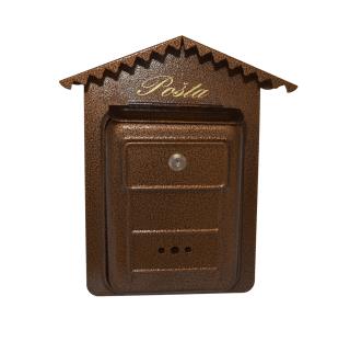 #99 POSTBOX BWRBN | Malá poštová schránka so strechou 340/220/40 mm