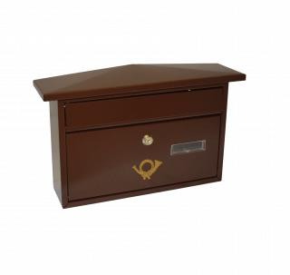 #99 POSTBOX SZIPBR | Poštová schránka hnedá so šikmou strieškou 210/300/800