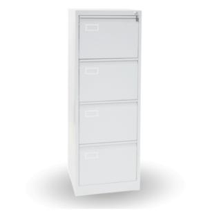 #26 FILE 4 WHITE ECONOMY - 4-Zásuvková kartotéková skriňa BIELA, 1320/460/620 mm