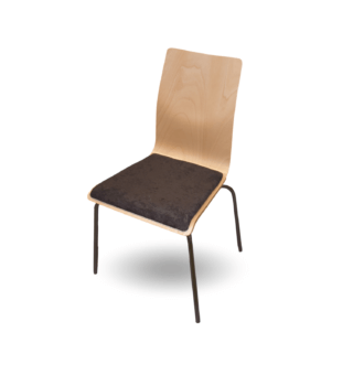#14 DININGCH W 01 - Jedálenská stolička drevená, s čalúneným sedadlom