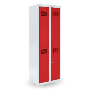 #03 MINI 4 3020 │ 4-dverová kovová šatníková skriňa delená, 1800/600/500 mm
