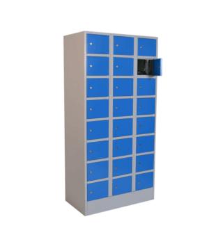#05 BOX 24 BLUE - 24-priehradková skriňa na úschovu cenností, 1850/900/500 mm