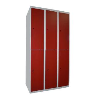 #04 MINI BOXES 6 W/R - 6-dverová šatníková skriňa delená 1740/900/550 mm