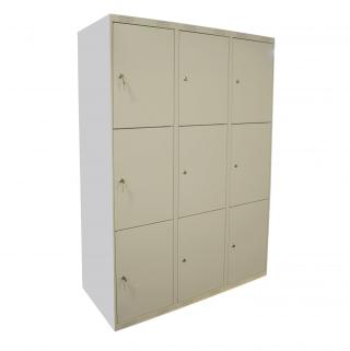 #04 MINI BOXES 9 - 9-dverová šatníková skriňa delená 1740/1200/550 mm