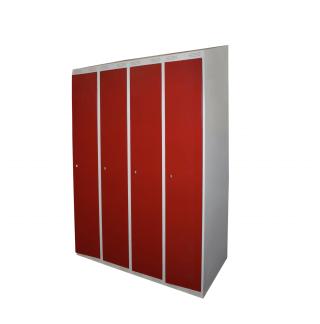 #04 TOPSTANDARD 4 - 4-dverová šatníková skriňa so šikmou strieškou 1900/1200/550 mm