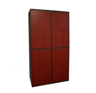 #04 BOXES Z8 G/R - 8-dverová šatníková skriňa typu Z 1980/1000/450 mm