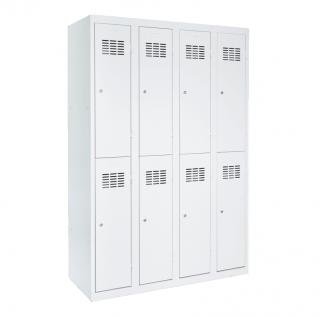 #03 MINI 8 │ 8-dverová kovová šatníková skriňa delená, 1800/1200/500 mm